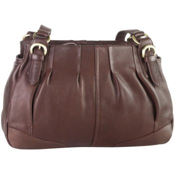 Semi-Pleated Twin Shoulder Bag