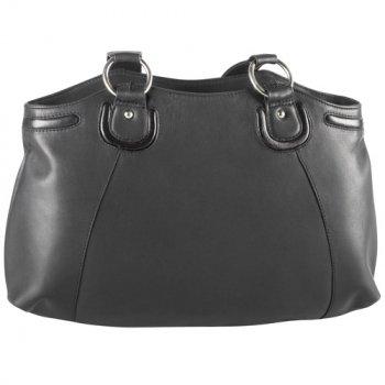 Inset Top Zip Shoulder Bag