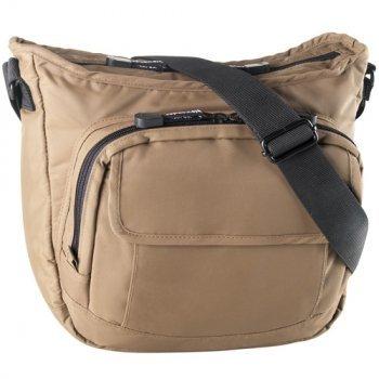 Top zip bucket bag, front zip org.