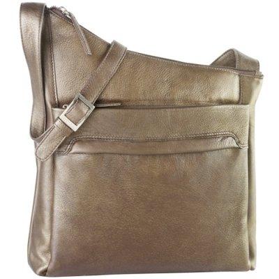 NS Angle Top Zip Shoulder Bag