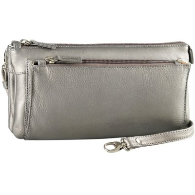 Small EW Two Zip clutch/bag