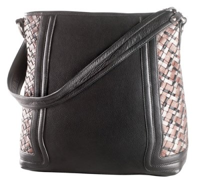 Large Two Top Zip Shoulder Bag