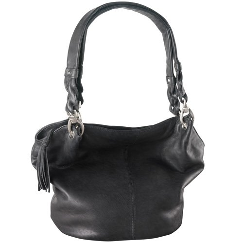 Large bucket bag w/ wide opening
