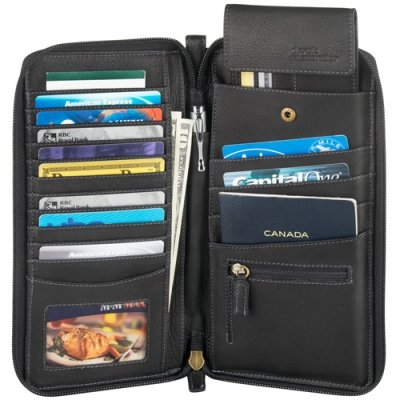 Multi Compartment Travel Wallet