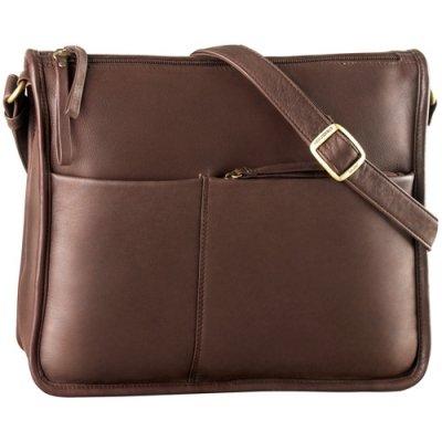 EW Twin Top Zip Semi Structured Handbag