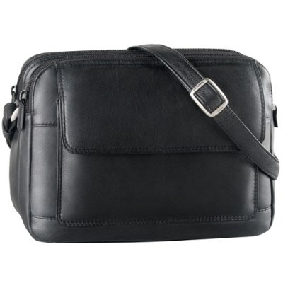 Twin Top Zip Shoulder Bag