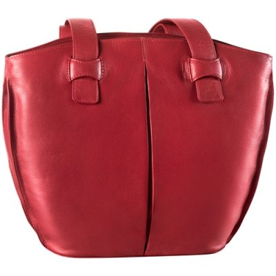 Bucket Shape w/ two inset top zip handbag