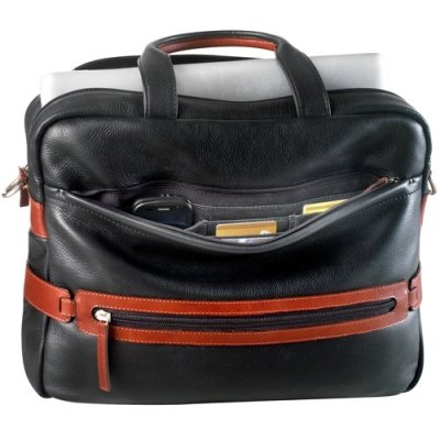 Top zip compartment w/ two drop pockets