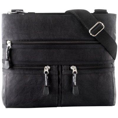 Slim top zip handbag
