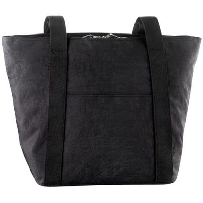 Large top zip twin handle tote