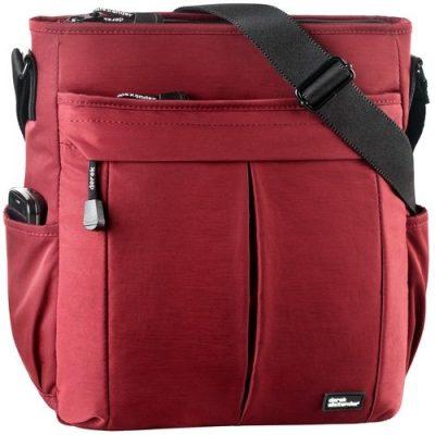 Top zip multi compartment shoulder bag