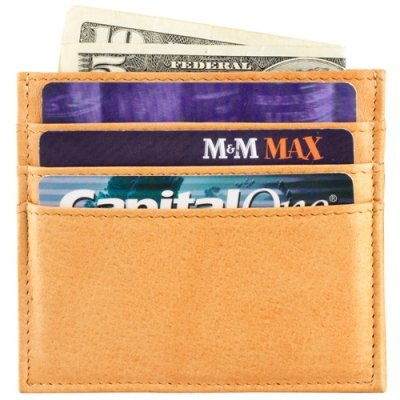 Two sided card holder