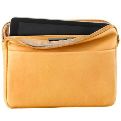 Small tablet sleeve, top zip, org (FB)